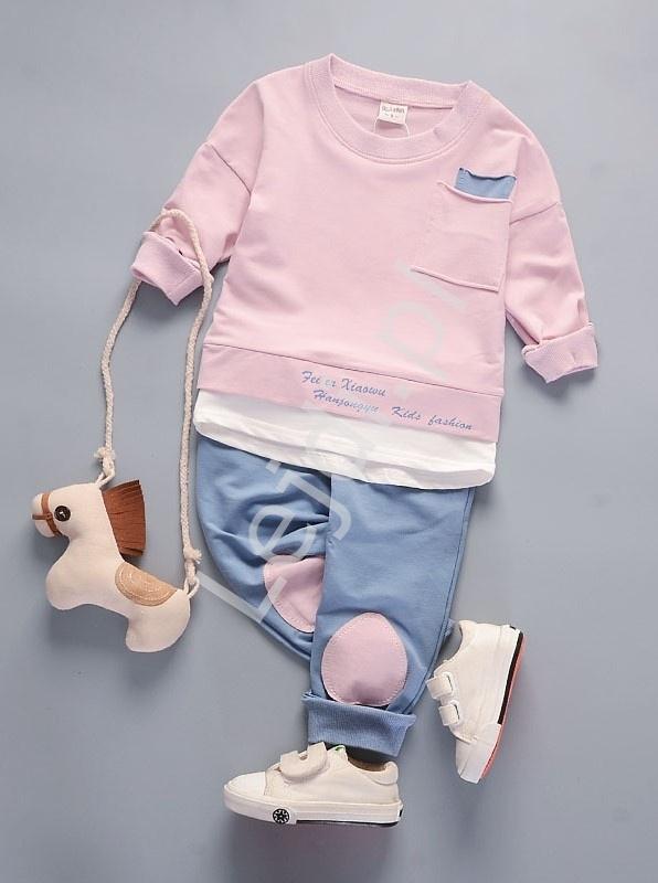 Komplet dwuczęściowy dla dziewczynki, spodnie i bluza 676