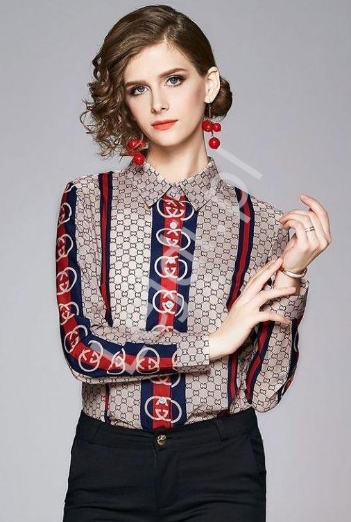 Elegancka koszula biznesowa z stylowym wzorem