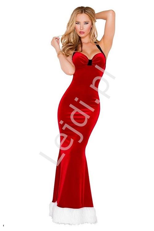 Seksowna sukienka czerwona - przebranie mikołajka