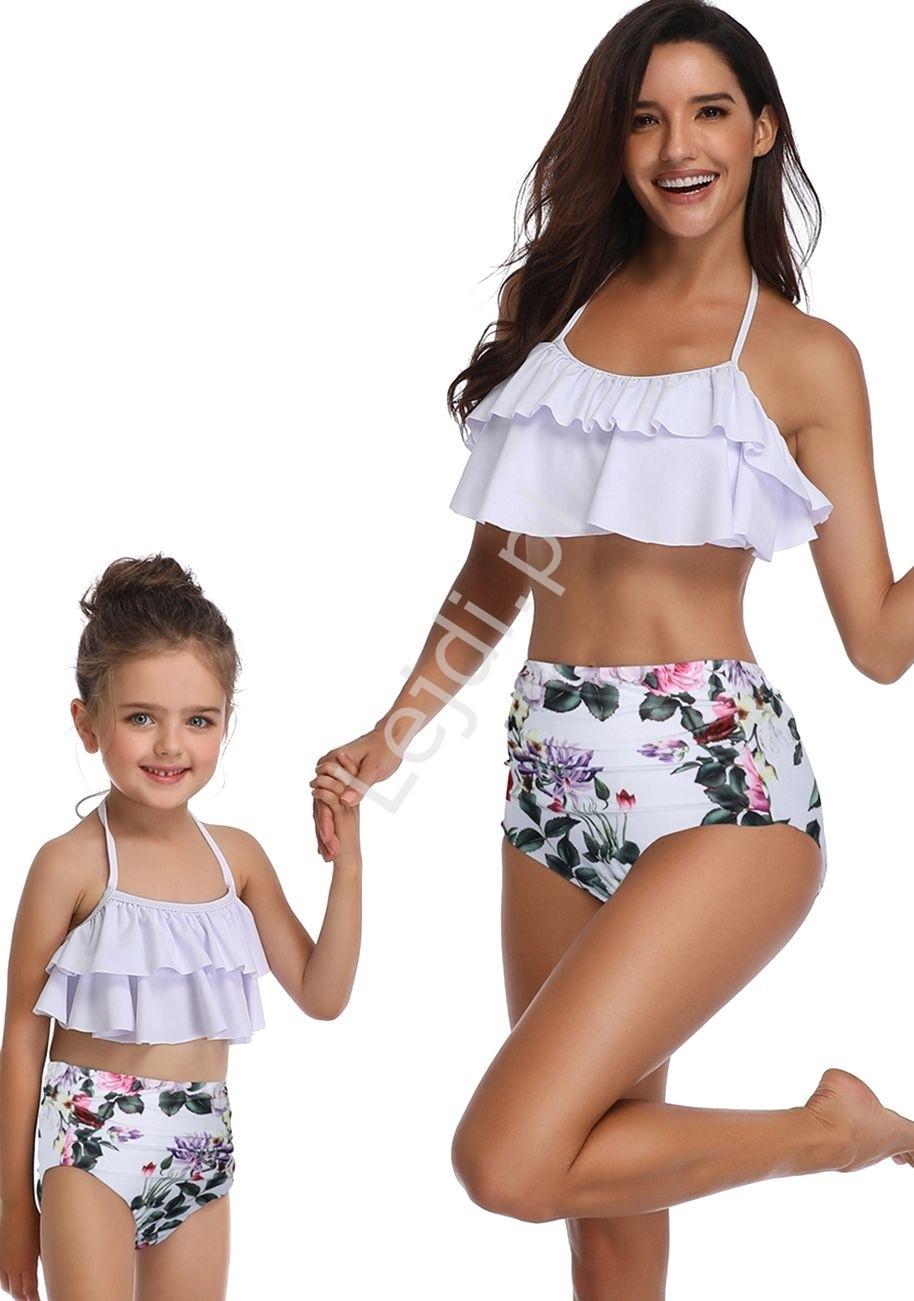Image of Bikini dwuczęściowe mama i córka z różami
