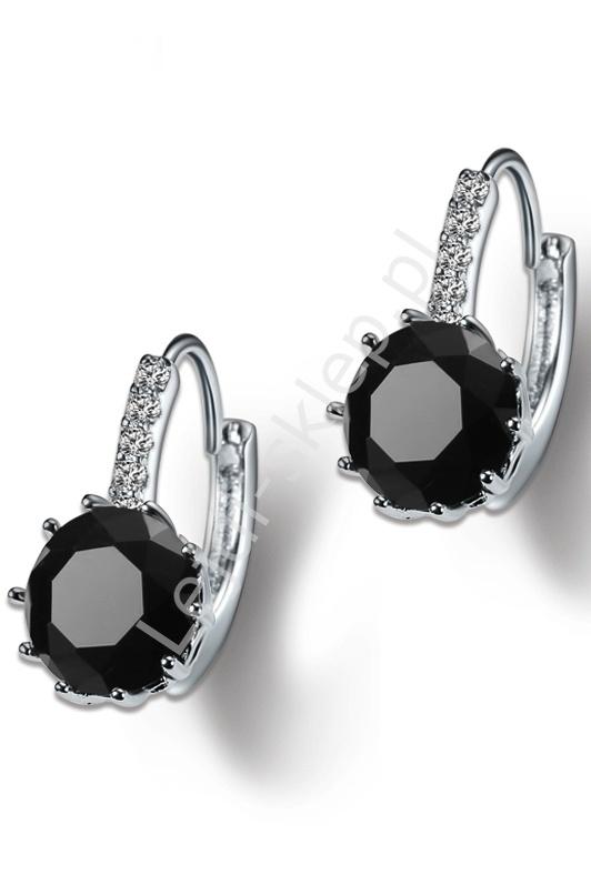 Kolczyki z kryształkami czarne