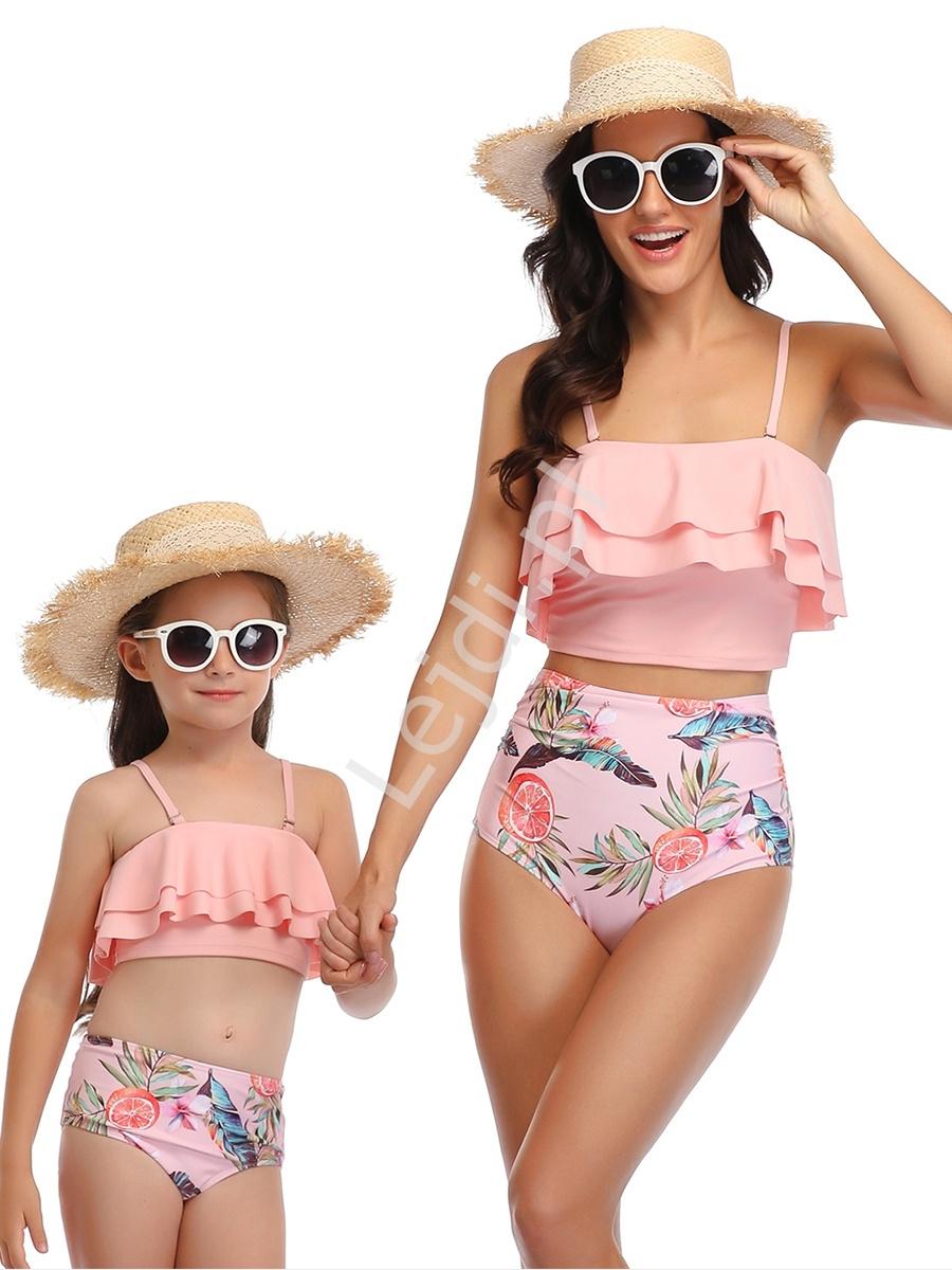 Image of Bikini dla mamy i córki z piórami 0081