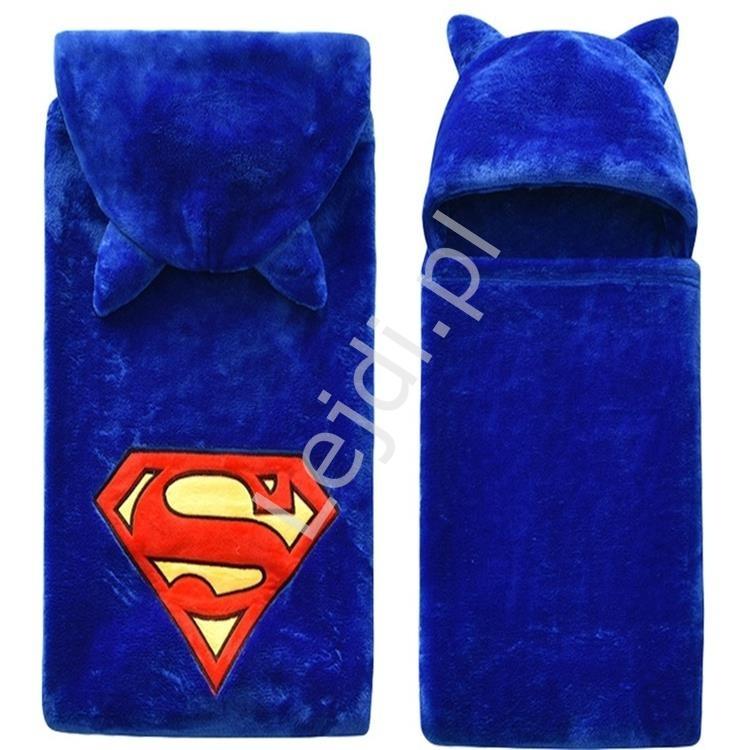 Miękki kąpielowy ręcznik dziecięcy z kapturem supermen