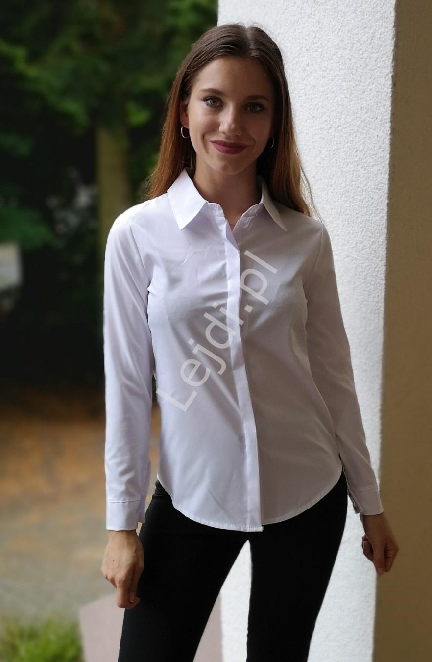 Biała elegancka koszula do pracy, szkoły 1173