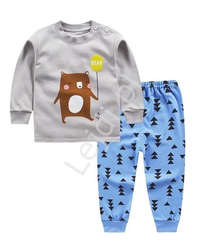 Bawełniana piżama dziecięca z misiem 0319