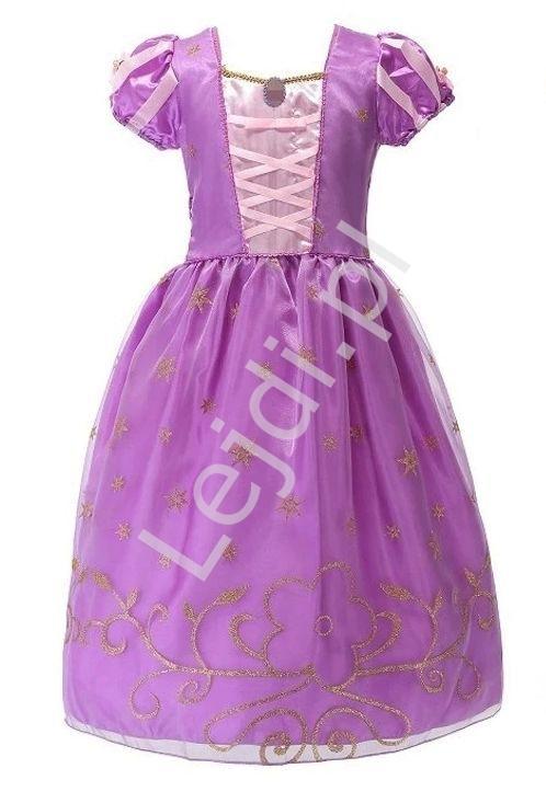 Image of Kostium roszpunka na bal karnawałowy, przebranie dla dziewczynki , długa suknia 387