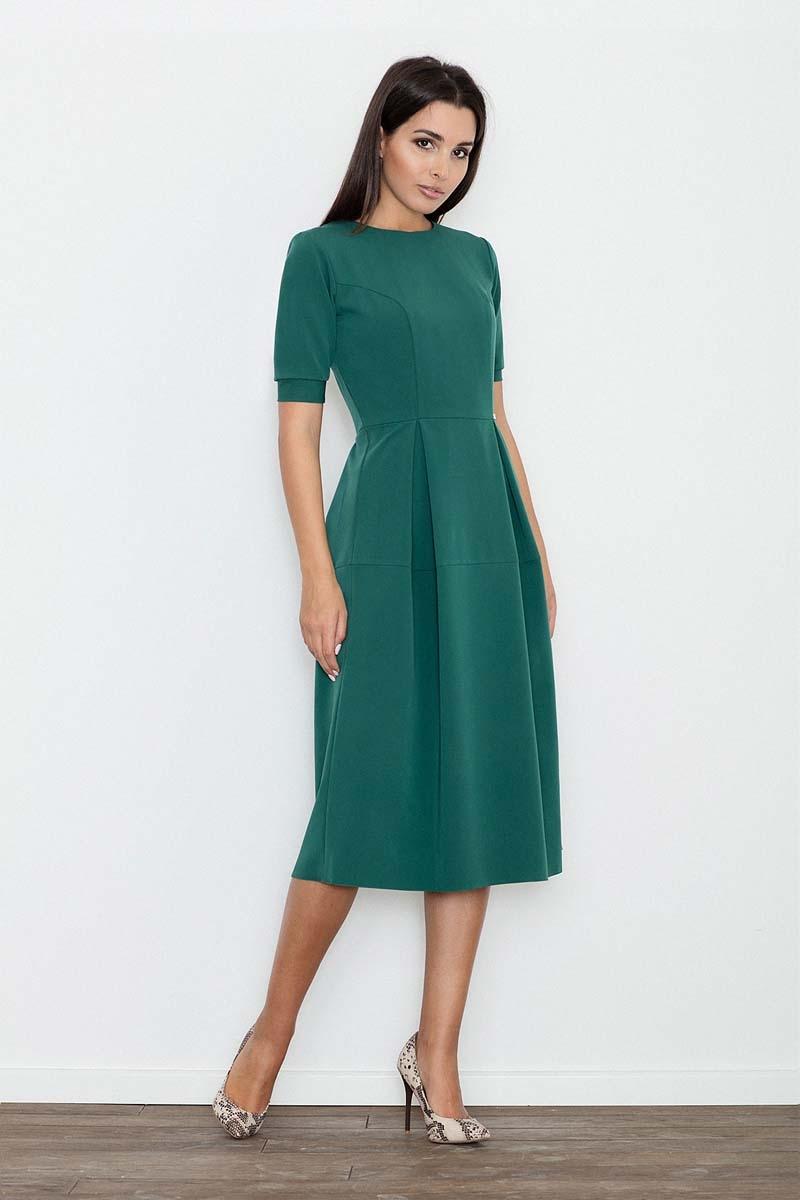 Zielona sukienka elegancka wizytowa midi