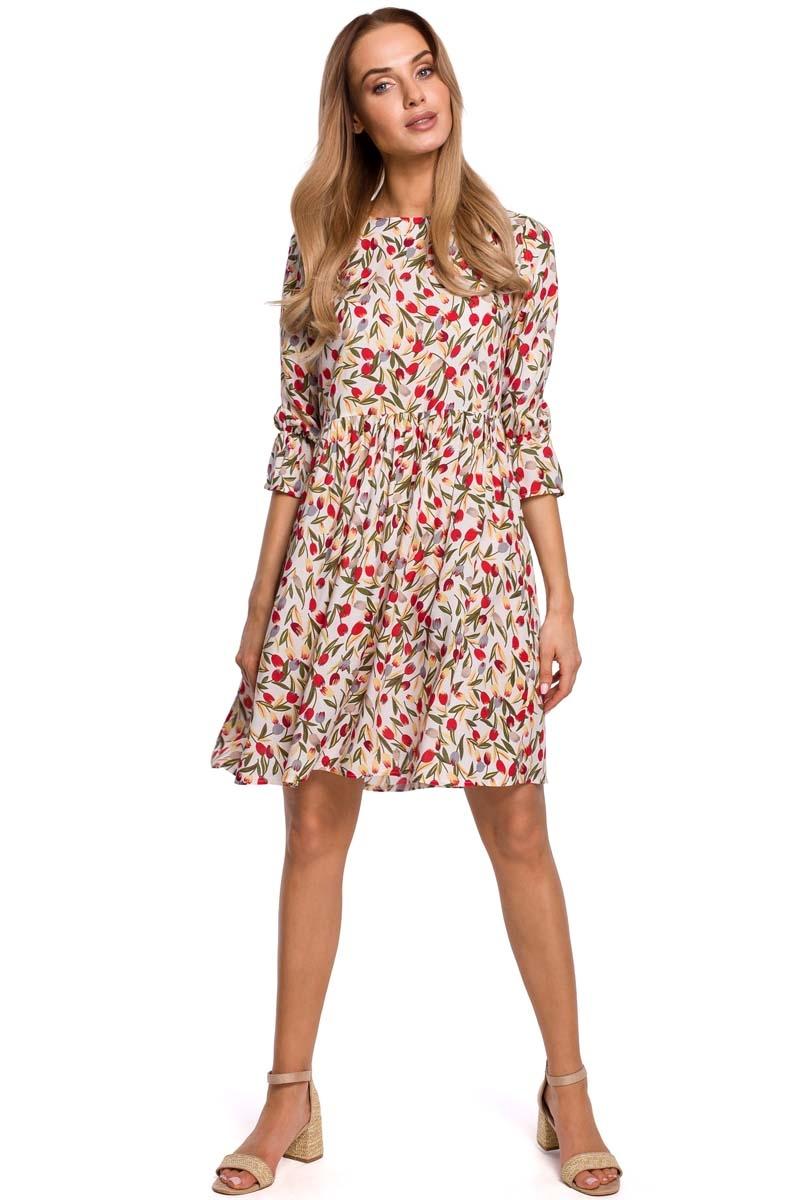 Letnia sukienka w drobne kwiatki - model 5