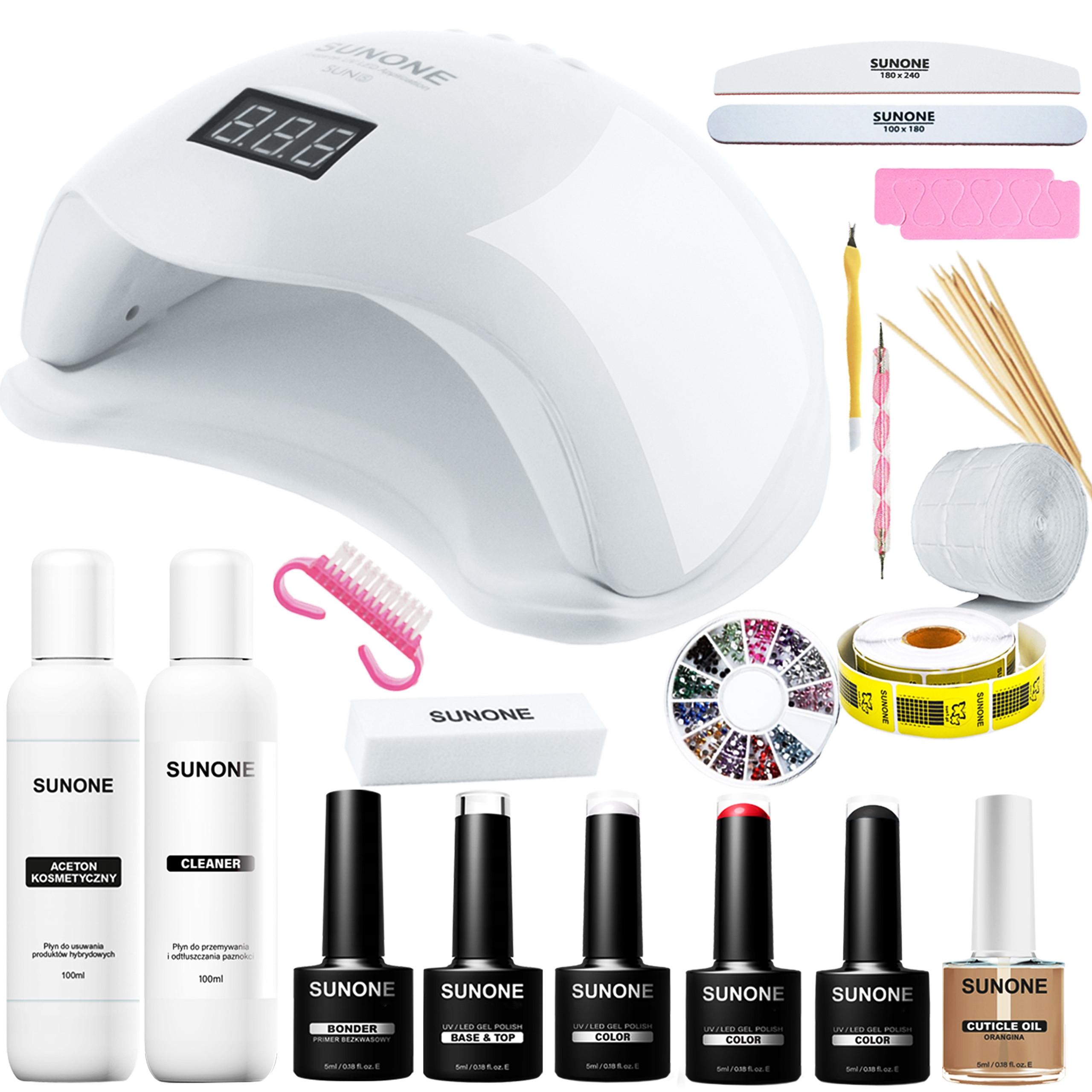 Image of Sunone s02 - zestaw manicure hybrydowego, lampa, akcesoria i kosmetyki do paznokci