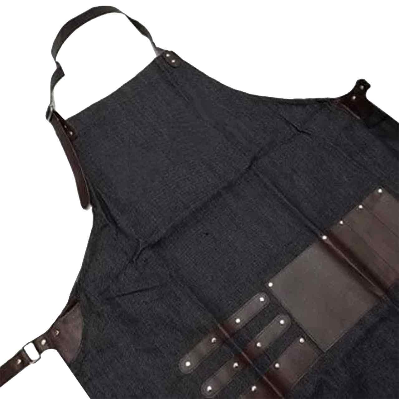 Image of Clubman barber apron, profesjonalny fartuch barberski, imitacja jeansu