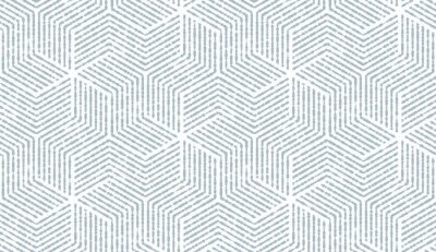 Image of Naklejka abstrakcyjny wzór geometryczny z paskami, linie. bezszwowe tło wektor. biało-niebieski ornament. prosta grafika kratowa
