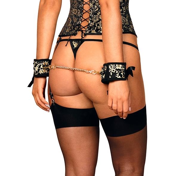 Zdobione seksowne kajdanki - obsessive shelle cuffs