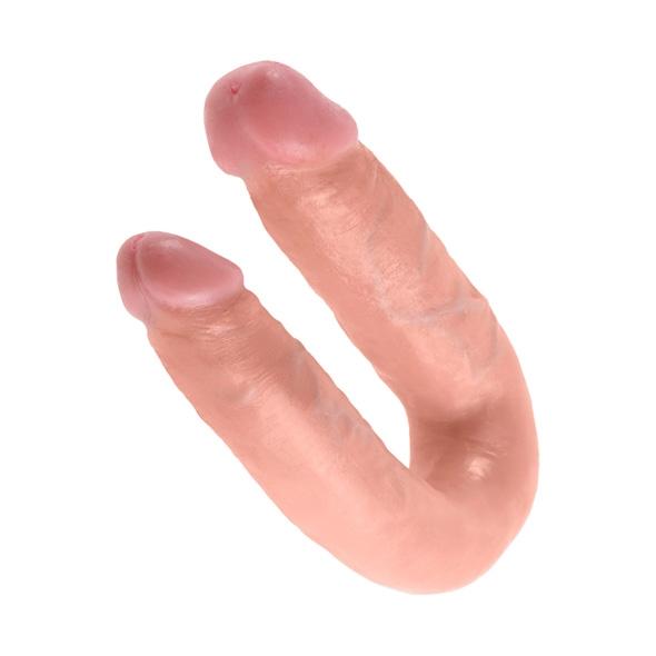 Podwójne dildo - king cock u-shaped double trouble medium flesh średnie