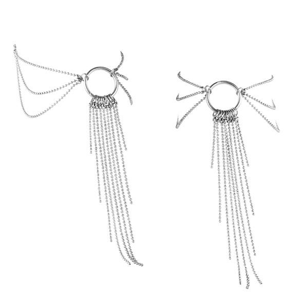 Ozdoby z łańcuszków na stopy - bijoux indiscrets magnifique feet chain srebrny