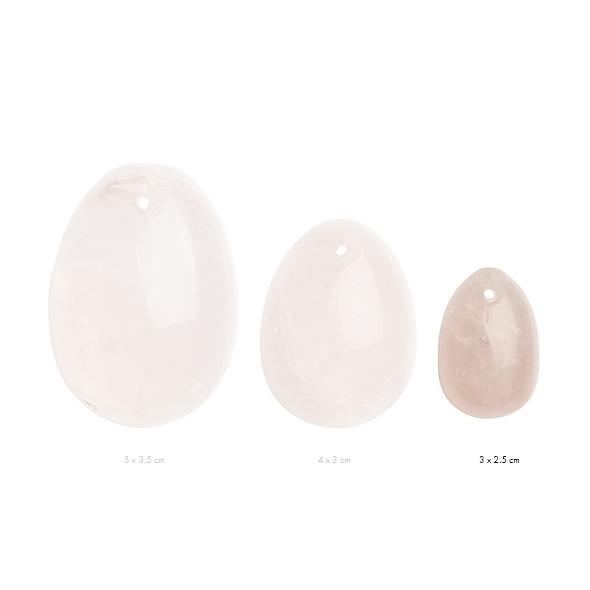 Kamienne jajeczko yoni waginalne - la gemmes yoni egg różowy kwarc s