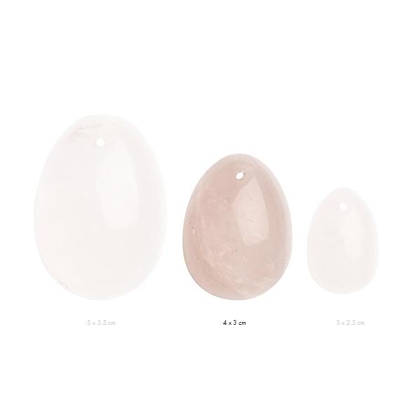 Kamienne jajeczko yoni waginalne - la gemmes yoni egg różowy kwarc m