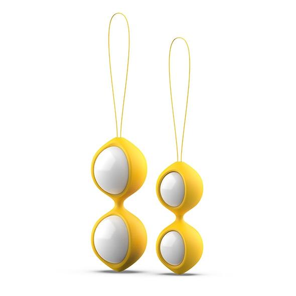 Zestaw do ćwiczenia mięśni kegla - b swish bfit classic kegel balls   żółty