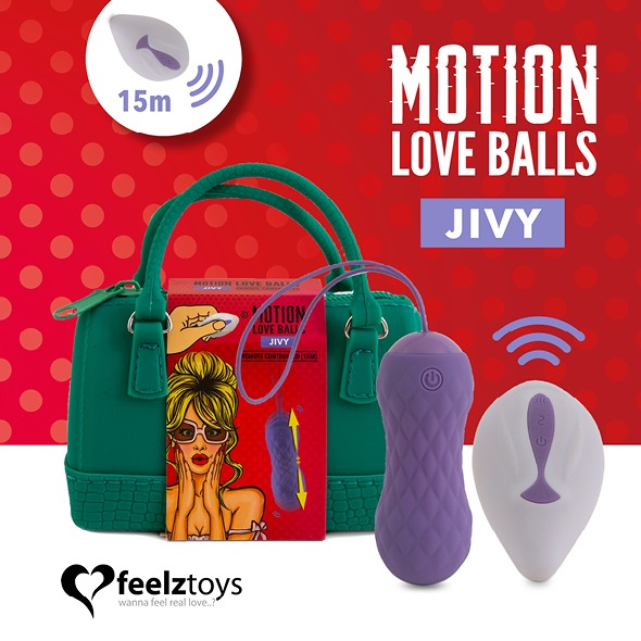 Zdalnie sterowane jajeczko stymulujące - feelztoys remote controlled motion love balls jivy