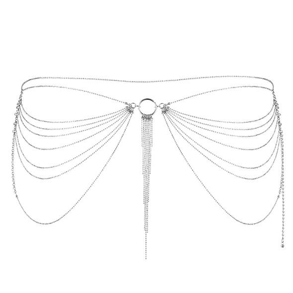Niezwykła ozdoba pas z łańcuszków - bijoux indiscrets magnifique waist jewelry srebrny