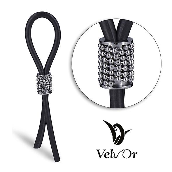 Ozdobny zacisk na penisa - velv'or jboa adjustable cock ring 302