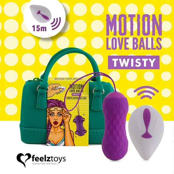 Zdalnie sterowane jajeczko stymulujące - feelztoys remote controlled motion love balls twisty