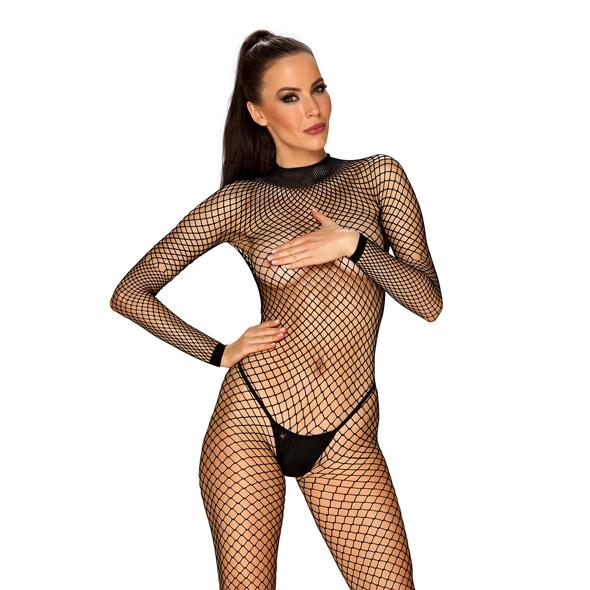 Seksowna siateczka - obsessive bodystocking n121 black xl/xxl