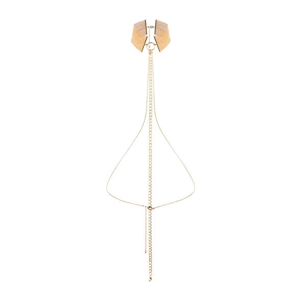 Obroża z łańcuszkami - bijoux indiscrets magnifique collar złoty