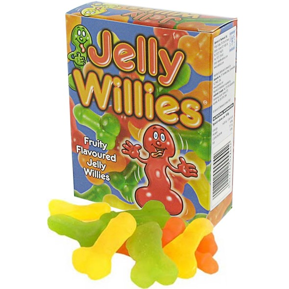 Cukierki żelowe peniski - jelly willies  owocowe