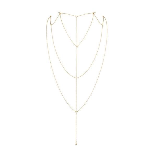 Ozdoba z łańcuszków na dekolt lub plecy - bijoux indiscrets  magnifique back & cleavage chain  złoty