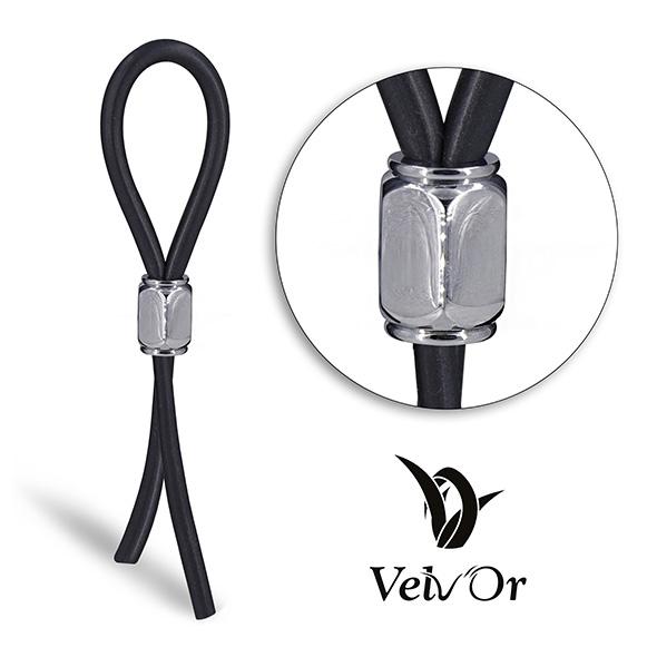 Ozdobny zacisk na penisa - velv'or jboa adjustable cock ring 305