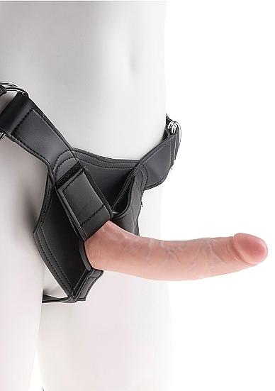 Pipedream king cock - uprząż strap-on + dildo 18cm (7