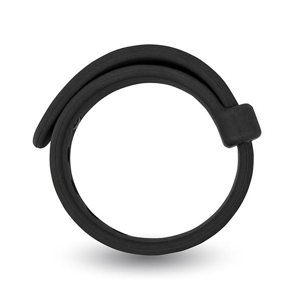 Opaska erekcyjna na penisa - velv'or rooster jason size adjustable firm strap design cock ring czarny
