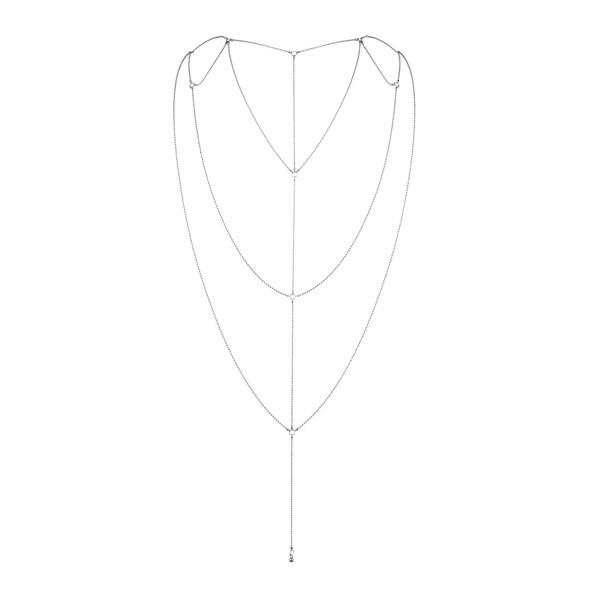 Ozdoba z łańcuszków na dekolt lub plecy - bijoux indiscrets  magnifique back & cleavage chain srebrny
