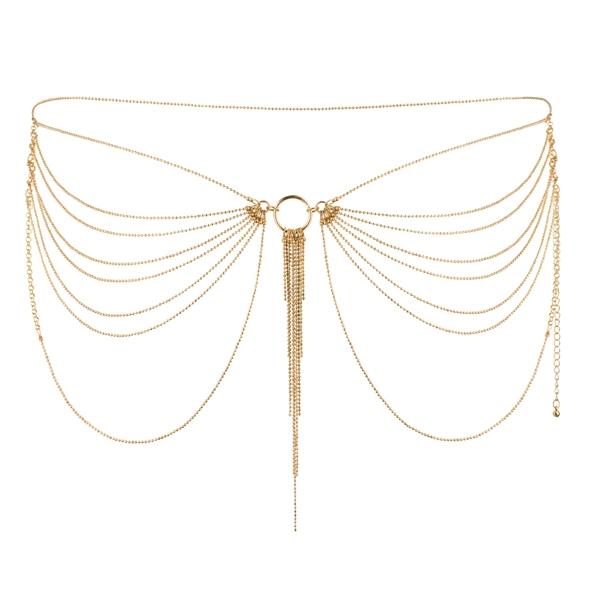 Niezwykła ozdoba pas z łańcuszków - bijoux indiscrets magnifique waist jewelry złoty