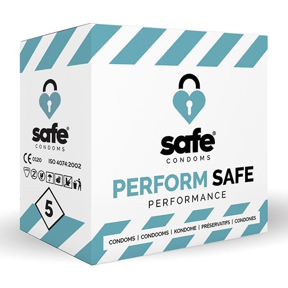 Prezerwatywy opóźniające - safe  performance condoms 5 szt