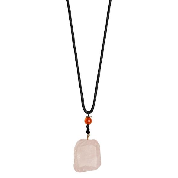Naszyjnik z kamieniem - la gemmes necklace różowy kwarc