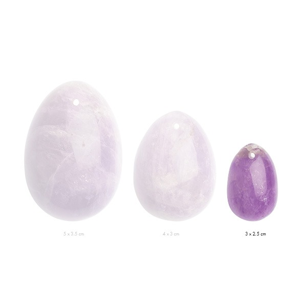 Kamienne jajeczko yoni waginalne - la gemmes yoni egg ametyst s