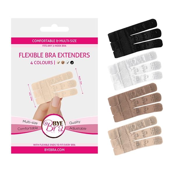 Przedłużanie zapięcia biustonosza 3 haftki - bye bra flexible bra extenders trzy kolory
