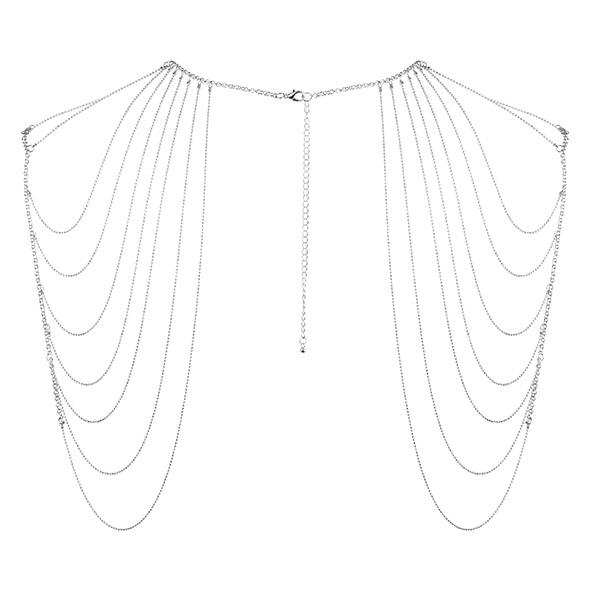 Niezwykła ozdoba naramienniki z łańcuszków - bijoux indiscrets magnifique shoulder jewelry srebrny