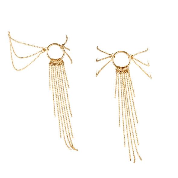 Ozdoby z łańcuszków na stopy - bijoux indiscrets magnifique feet chain złoty