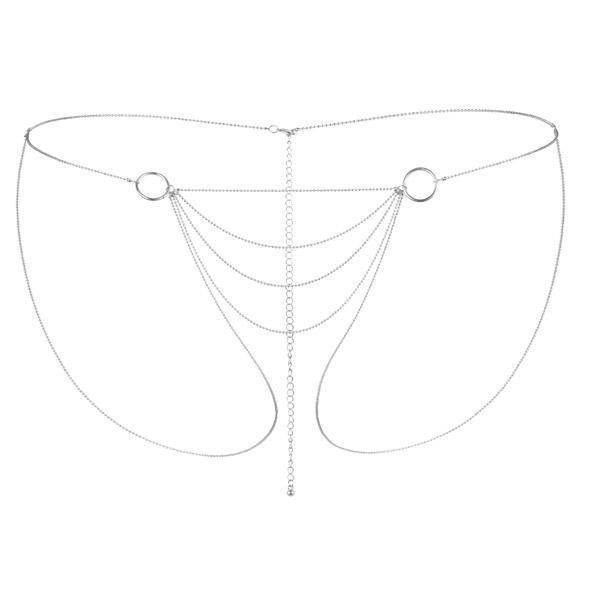 Majteczki z łańcuszków - bijoux indiscrets magnifique bikini chain srebrny