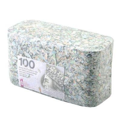 Image of 100 tysięcy złotych w brykiecie