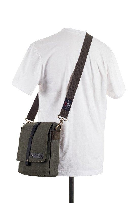 Image of Bawełniana torba na ramię unisex 2jus by daag zone 2 oliwka