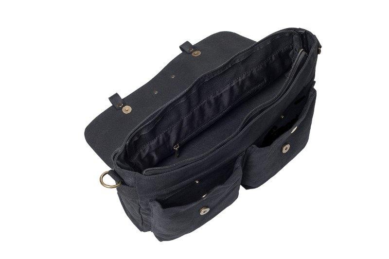 Image of Bawełniana torba na ramię unisex 2jus by daag zone 1 czarna