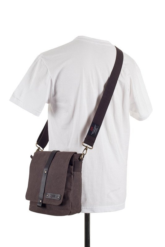 Image of Bawełniana torba na ramię unisex 2jus by daag zone 2 brązowa