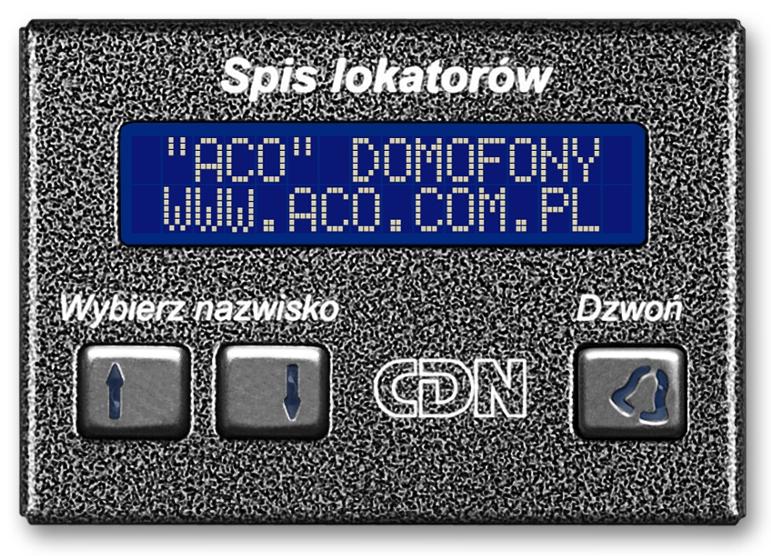 Image of Aco cdn-230e gr elektroniczny spis lokatorów grafit - możliwość montażu - zadzwoń: 34 333 57 04 - 37 sklepów w całej polsce