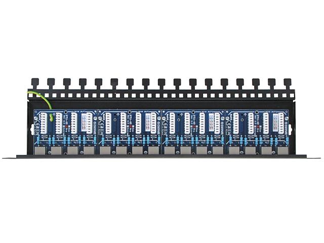 Image of 16-kanałowy panel zabezpieczający lan z podwyższoną ochroną przepięciową poe ewimar ptu-16r-pro/poe - możliwość montażu - zadzwoń: 34 333 57 04 - 37 sklepów w całej polsce