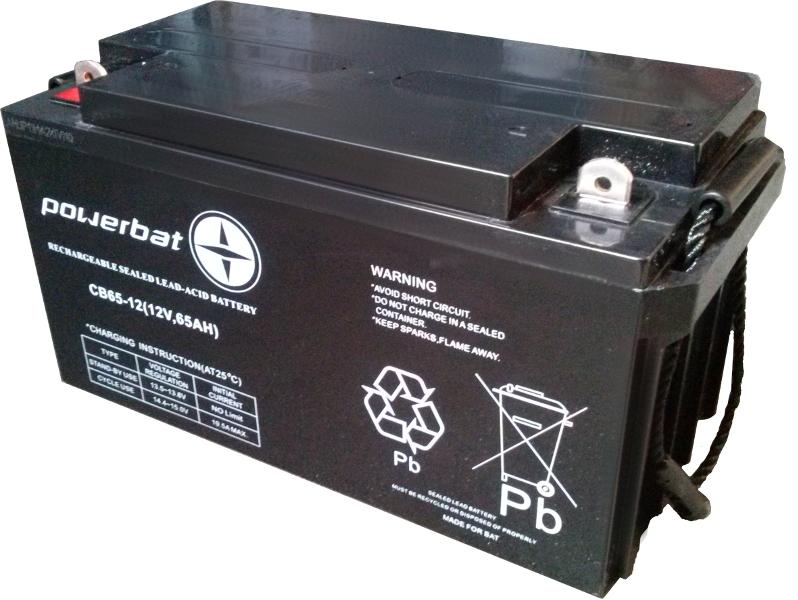 Image of Akumulator agm powerbat 12v 65ah - możliwość montażu - zadzwoń: 34 333 57 04 - 37 sklepów w całej polsce