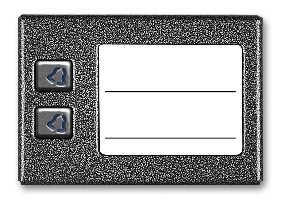 Image of Aco cdn-2np st podświetlany panel listy lokatorów z 2 przyciskami - możliwość montażu - zadzwoń: 34 333 57 04 - 37 sklepów w całej polsce