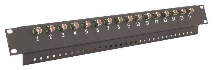 Image of 16-kanałowy panel z transformatorami wideo do szafy rack ewimar fkt-16 - możliwość montażu - zadzwoń: 34 333 57 04 - 37 sklepów w całej polsce